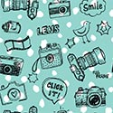 Sample Backdrop Teal Camera