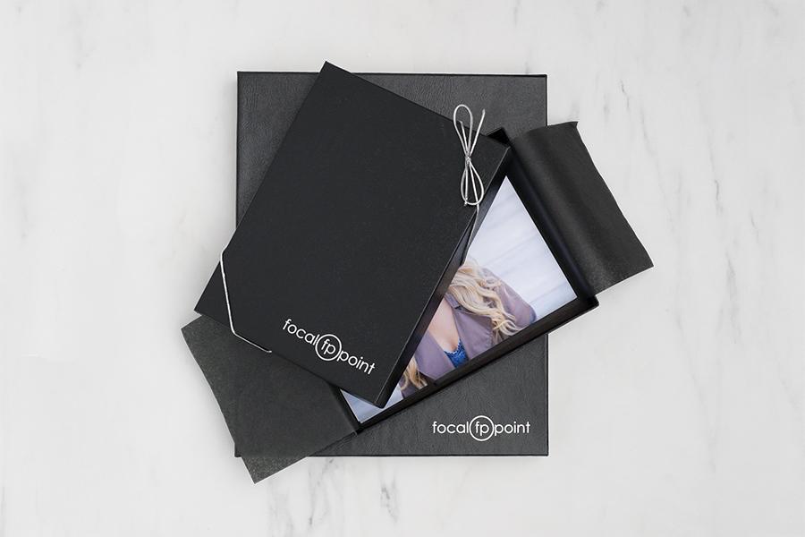 Black Leather Portrait Box