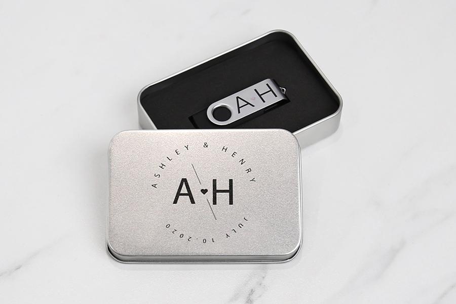 Metal Tin USB Box