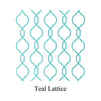 teal lattice print tissue paper