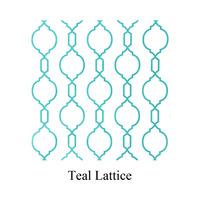 teal lattice print tissue paper