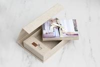 Linen Flash and Print USB Box