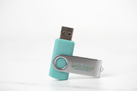 Teal Swivel Flash Drive