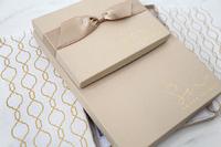 kraft portrait box