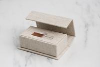 Luxe Linen Fabric USB Box