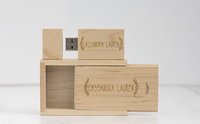 Wood Flash Drive and Wood USB Box