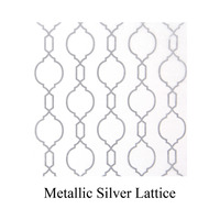 silver metallic lattice print tissue paper