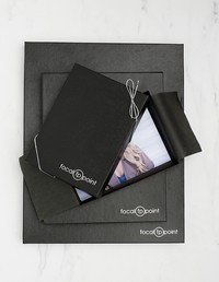 Tyndell Portrait Box Black Leather